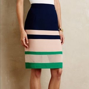 Anthropologie Harlyn Striped Parfait Pencil Skirt